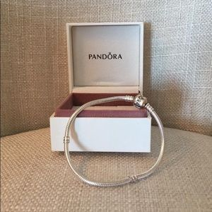 Pandora Moments snake chain bracelet with charm